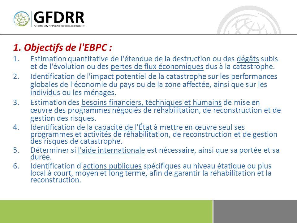 1. Objectifs de l EBPC :
