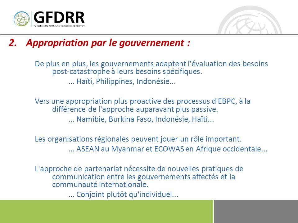 Appropriation par le gouvernement :