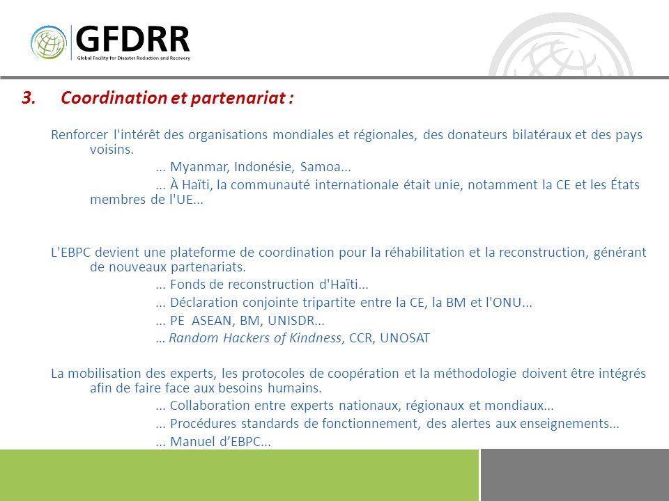 Coordination et partenariat :