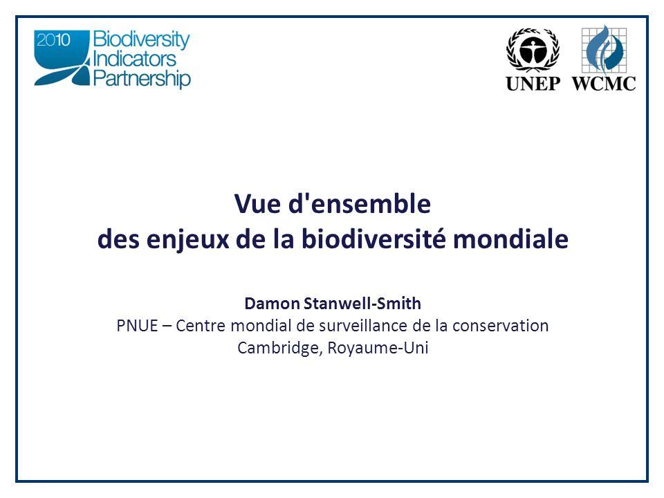 des enjeux de la biodiversité mondiale