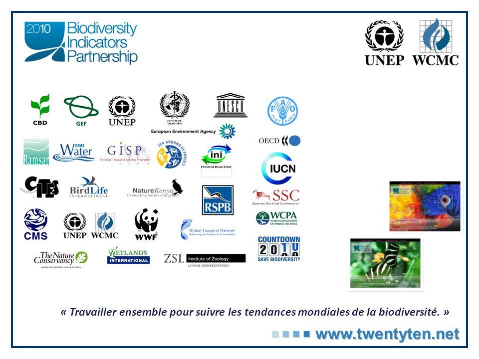 « Travailler ensemble pour suivre les tendances mondiales de la biodiversité. »