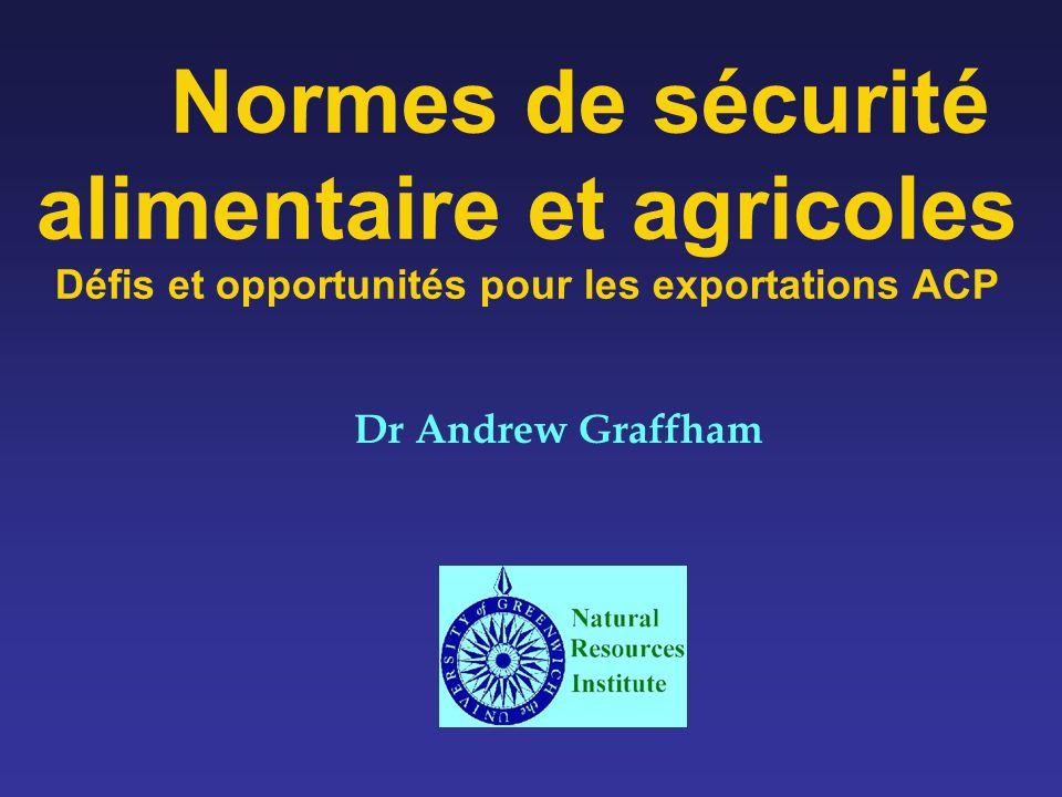Normes de sécurité alimentaire et agricoles Défis et opportunités pour les exportations ACP