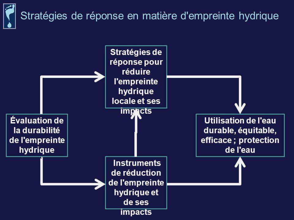 Évaluation de la durabilité de l empreinte hydrique