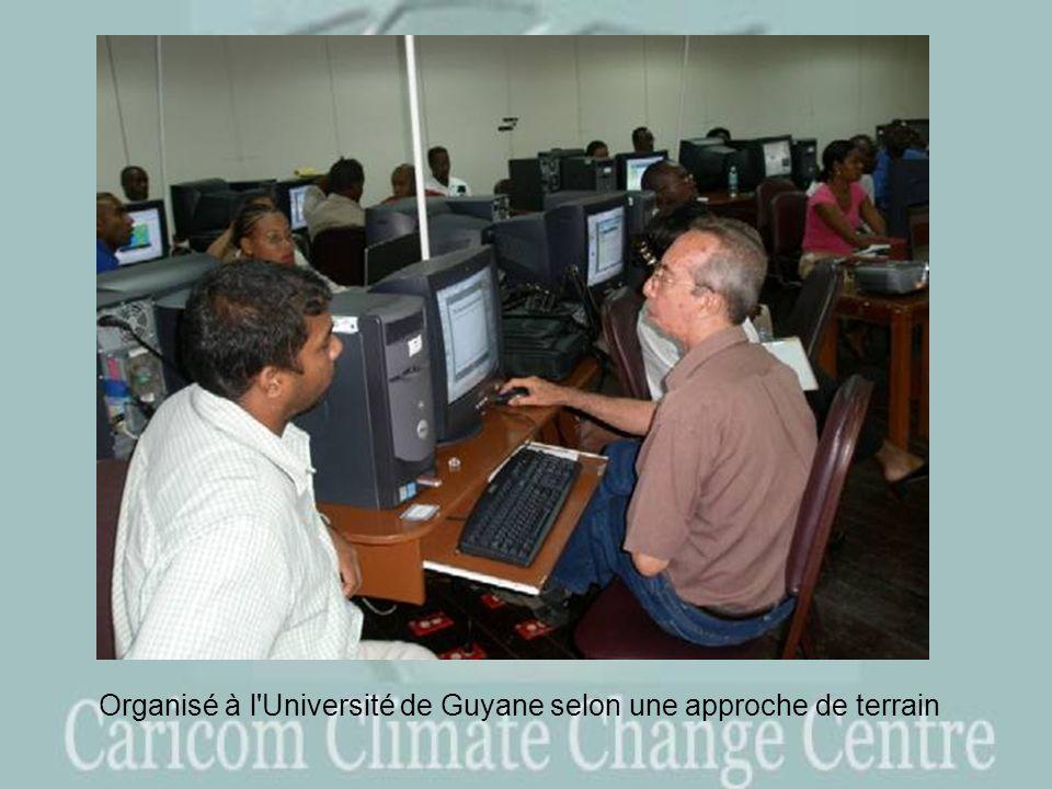 Organisé à l Université de Guyane selon une approche de terrain