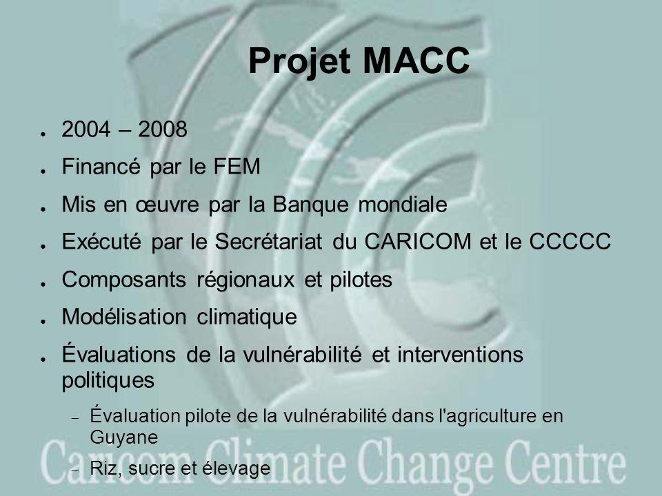 Projet MACC 2004 – 2008 Financé par le FEM