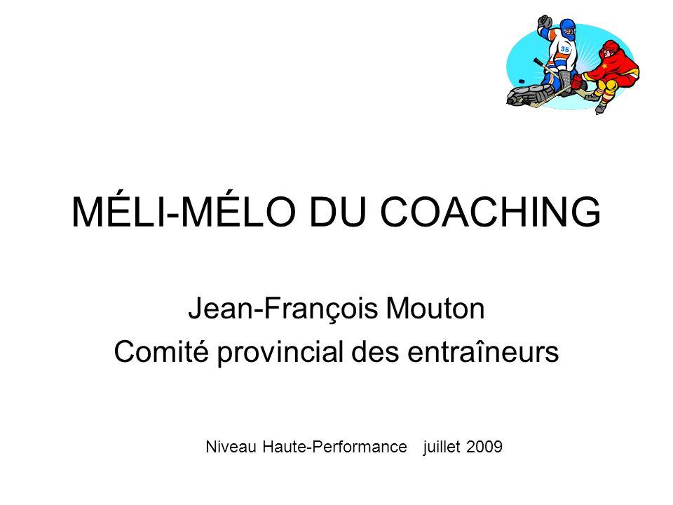 Jean-François Mouton Comité provincial des entraîneurs