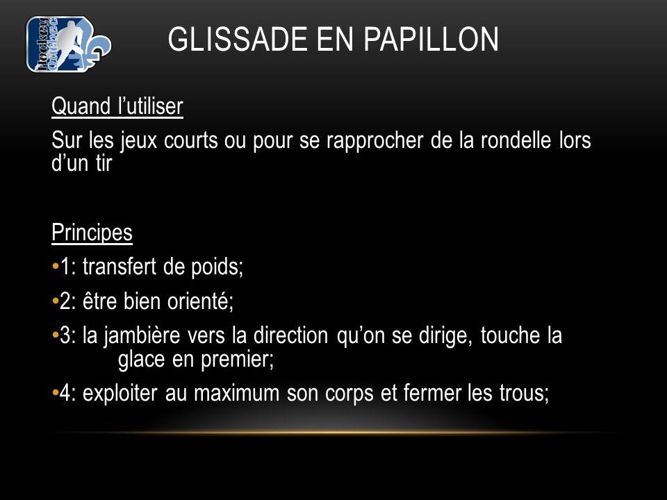 GLISSADE EN PAPILLON Quand l'utiliser