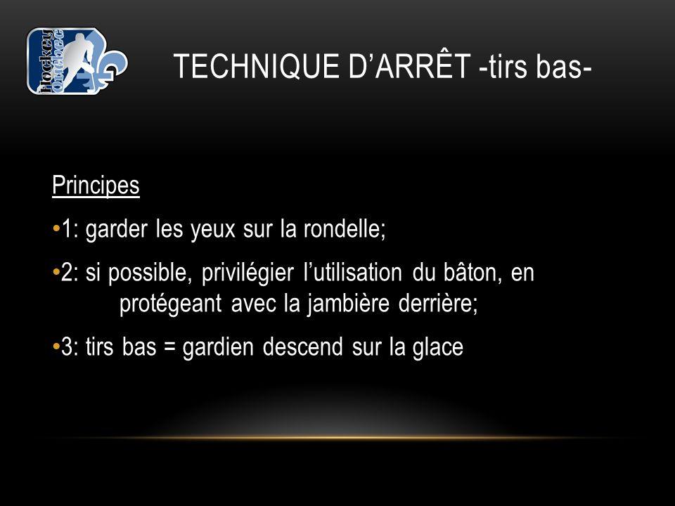 TECHNIQUE D'ARRÊT -tirs bas-