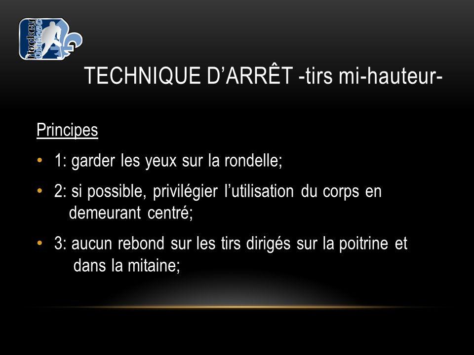 TECHNIQUE D'ARRÊT -tirs mi-hauteur-