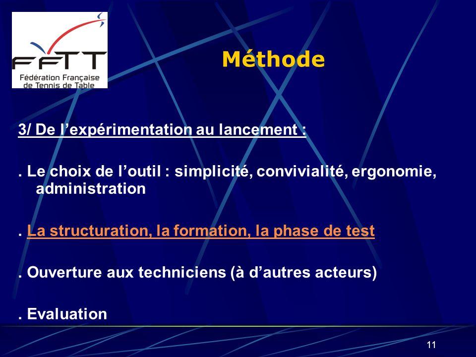 Méthode 3/ De l'expérimentation au lancement :