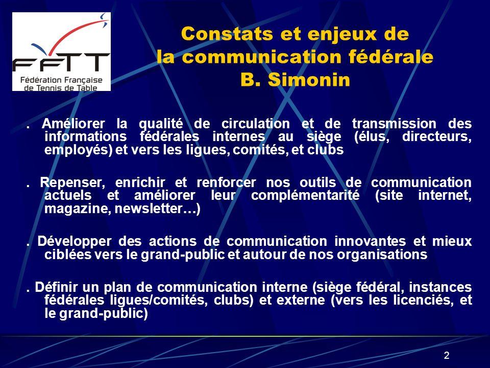 Constats et enjeux de la communication fédérale B. Simonin
