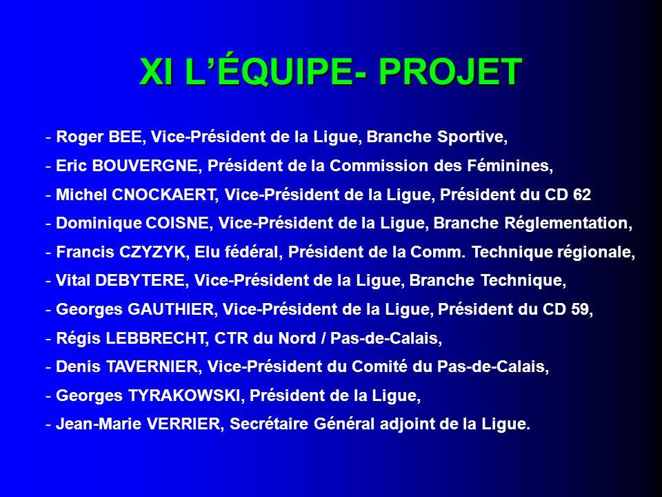 XI L'ÉQUIPE- PROJET Roger BEE, Vice-Président de la Ligue, Branche Sportive, Eric BOUVERGNE, Président de la Commission des Féminines,