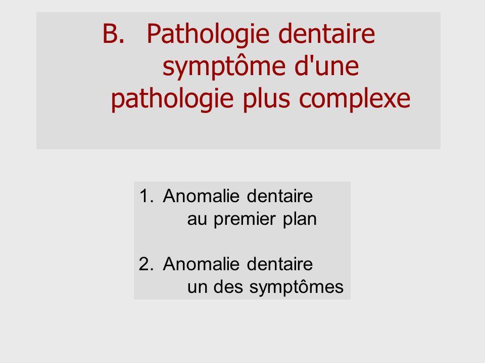 Pathologie dentaire symptôme d une pathologie plus complexe