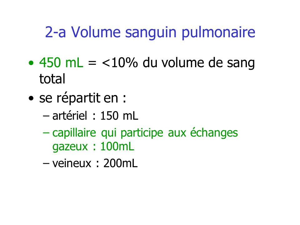 2-a Volume sanguin pulmonaire