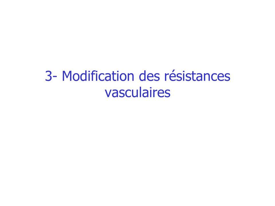 3- Modification des résistances vasculaires