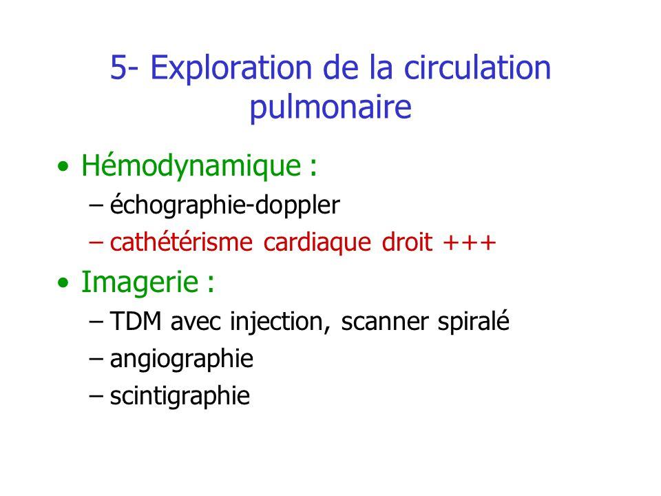 5- Exploration de la circulation pulmonaire