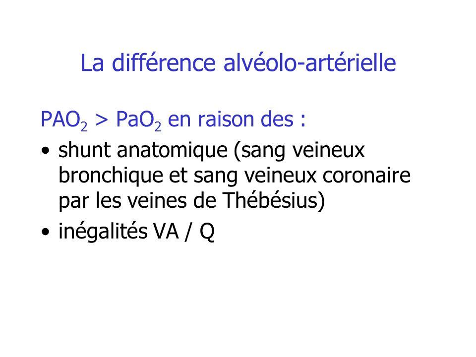 La différence alvéolo-artérielle