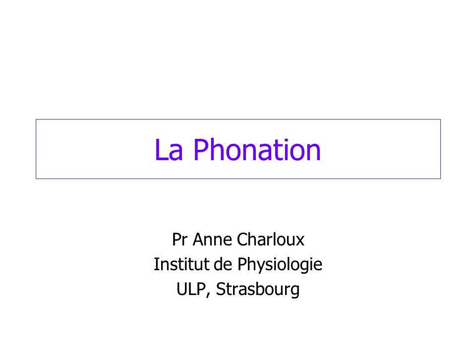 Pr Anne Charloux Institut de Physiologie ULP, Strasbourg