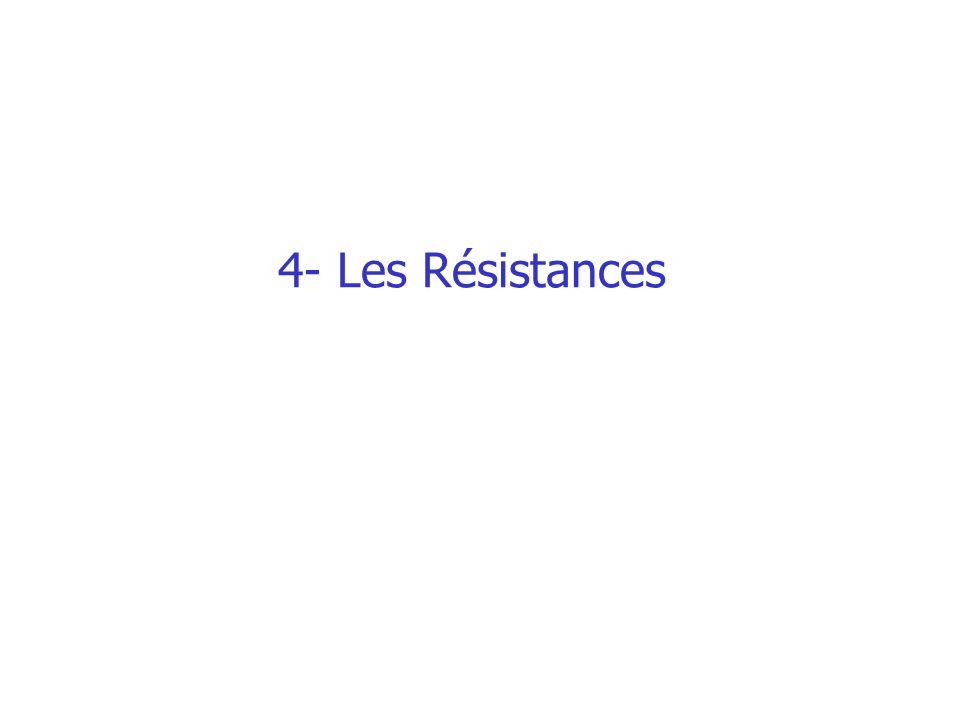 4- Les Résistances