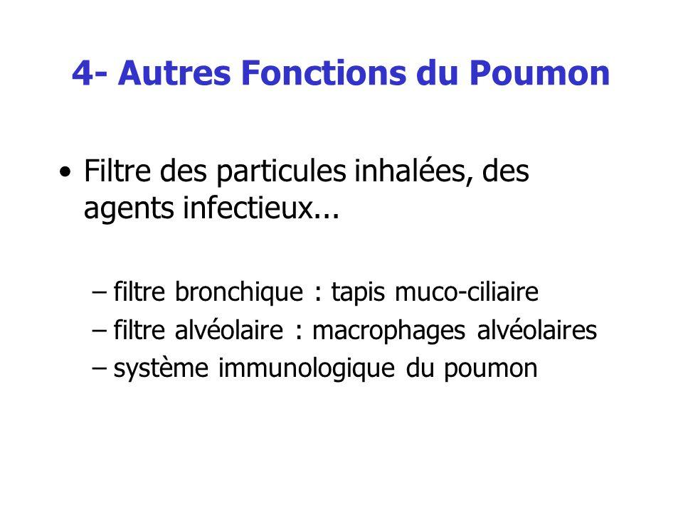 4- Autres Fonctions du Poumon