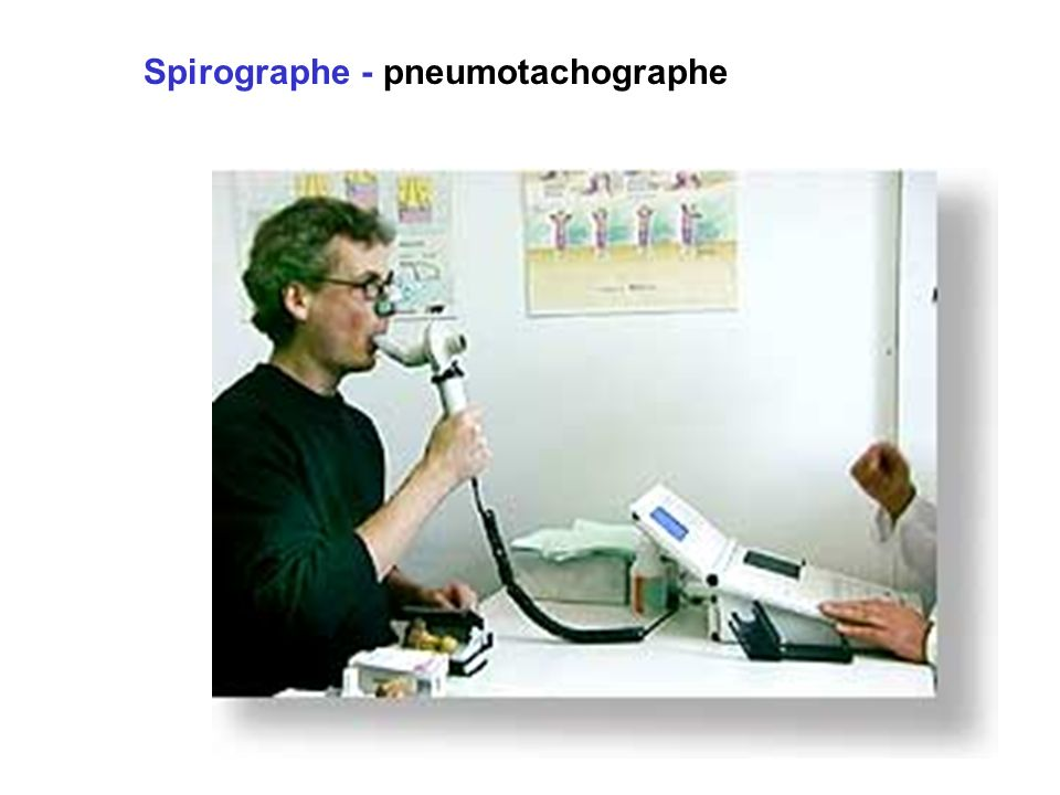 Spirographe - pneumotachographe