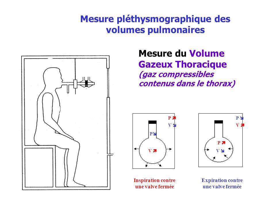 Mesure pléthysmographique des volumes pulmonaires