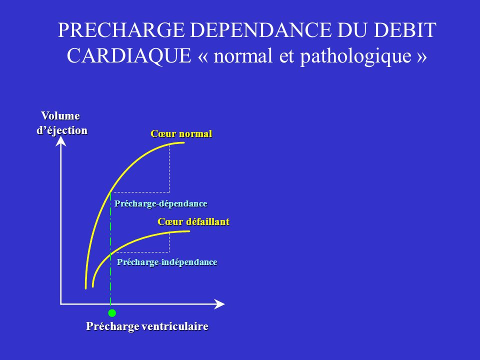 PRECHARGE DEPENDANCE DU DEBIT CARDIAQUE « normal et pathologique »