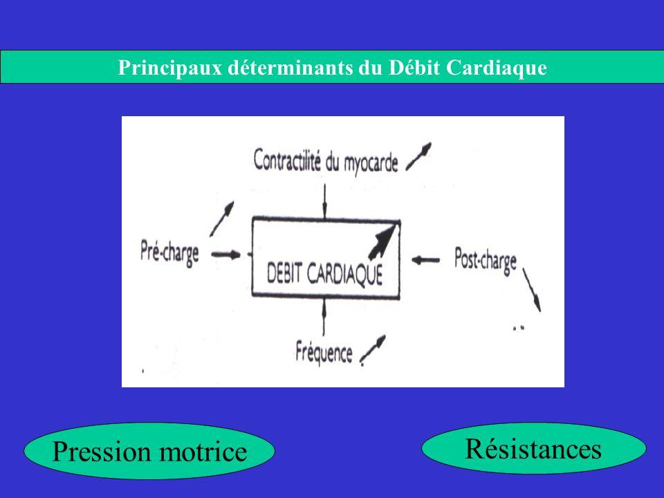 Principaux déterminants du Débit Cardiaque