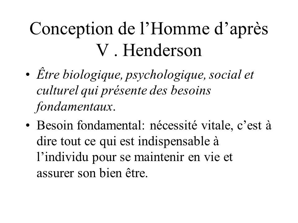Conception de l'Homme d'après V . Henderson