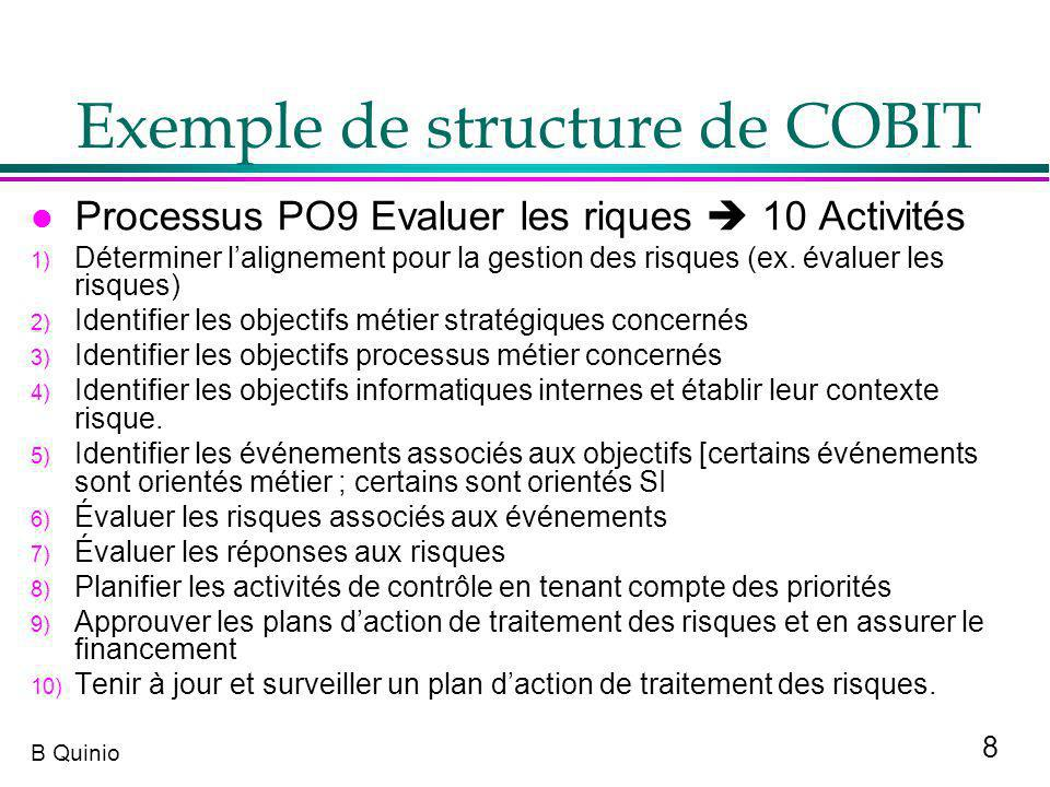 Exemple de structure de COBIT