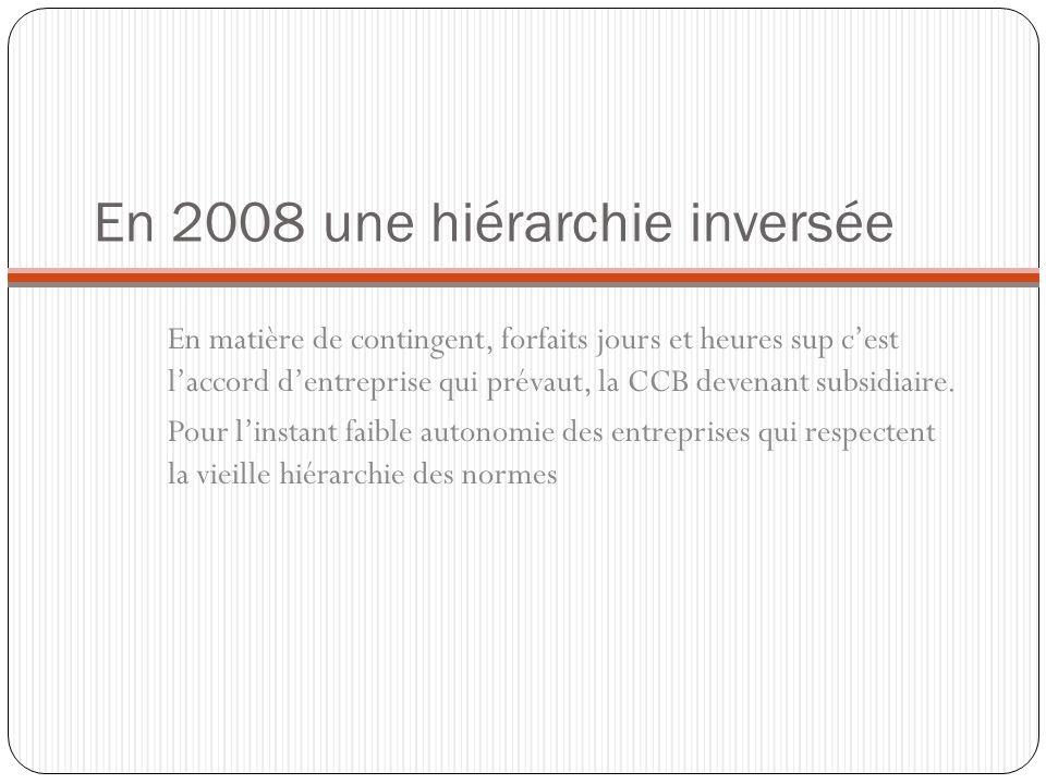 En 2008 une hiérarchie inversée
