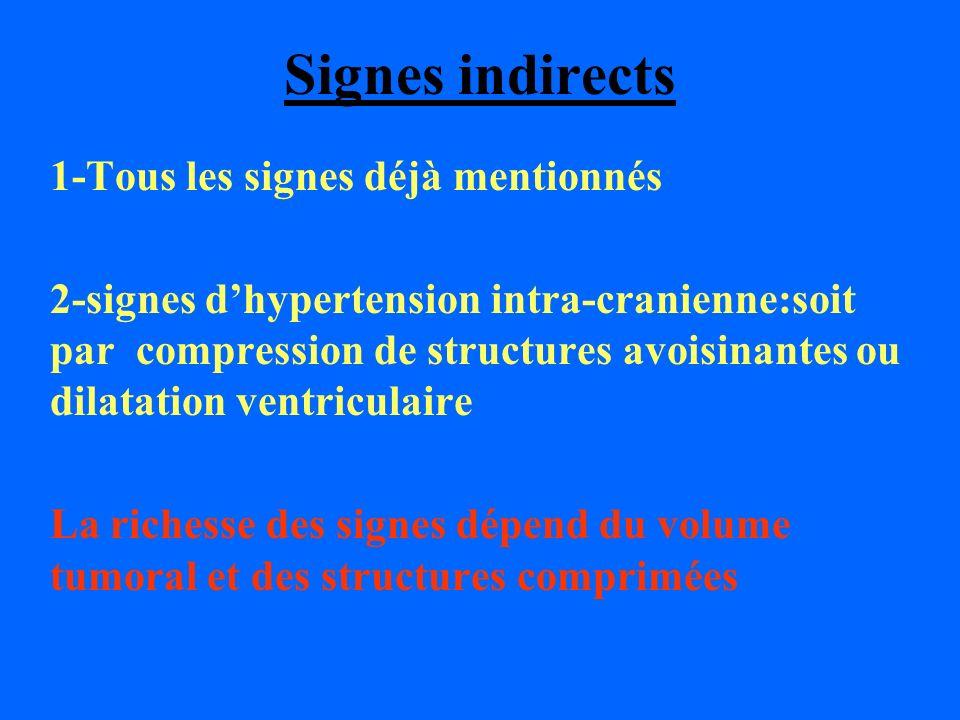 Signes indirects 1-Tous les signes déjà mentionnés