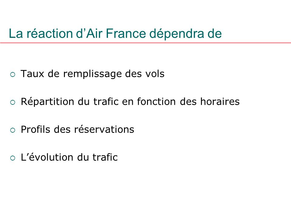 La réaction d'Air France dépendra de