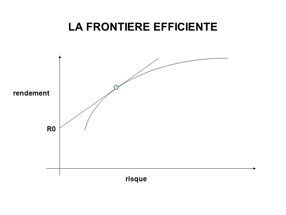 LA FRONTIERE EFFICIENTE