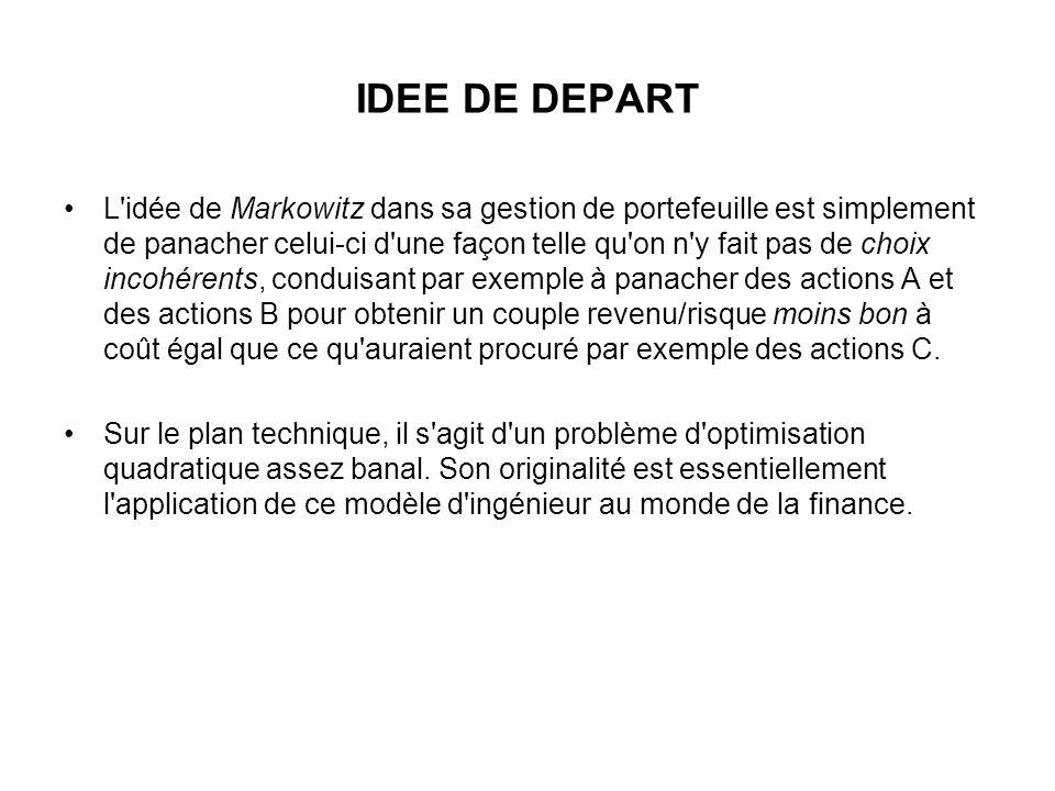 IDEE DE DEPART