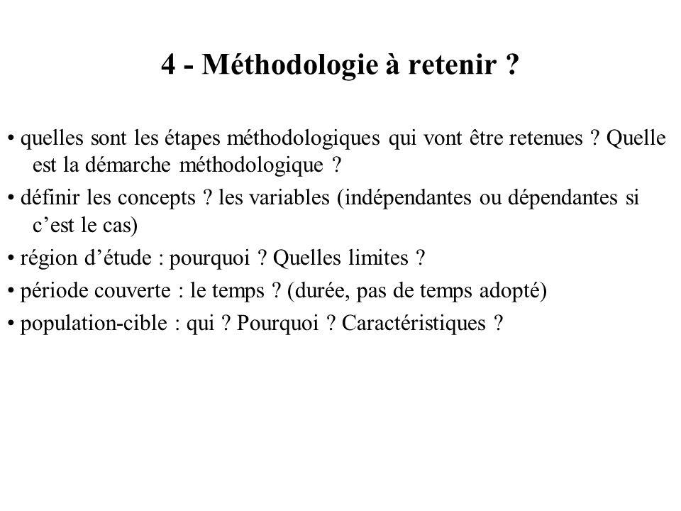 4 - Méthodologie à retenir