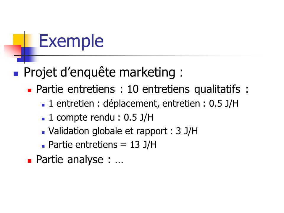 Exemple Projet d'enquête marketing :