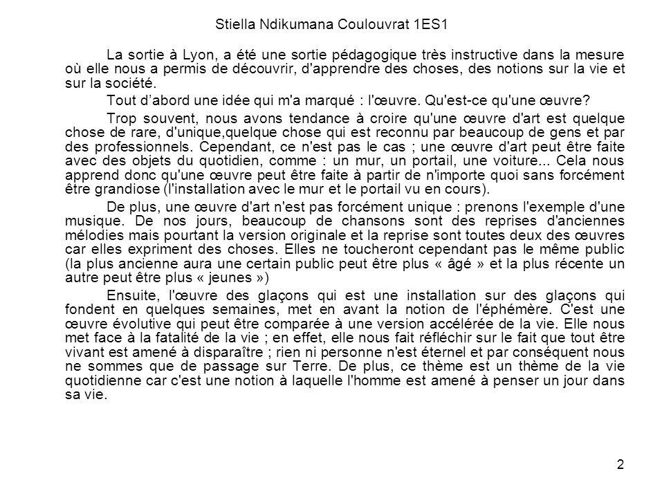 Stiella Ndikumana Coulouvrat 1ES1
