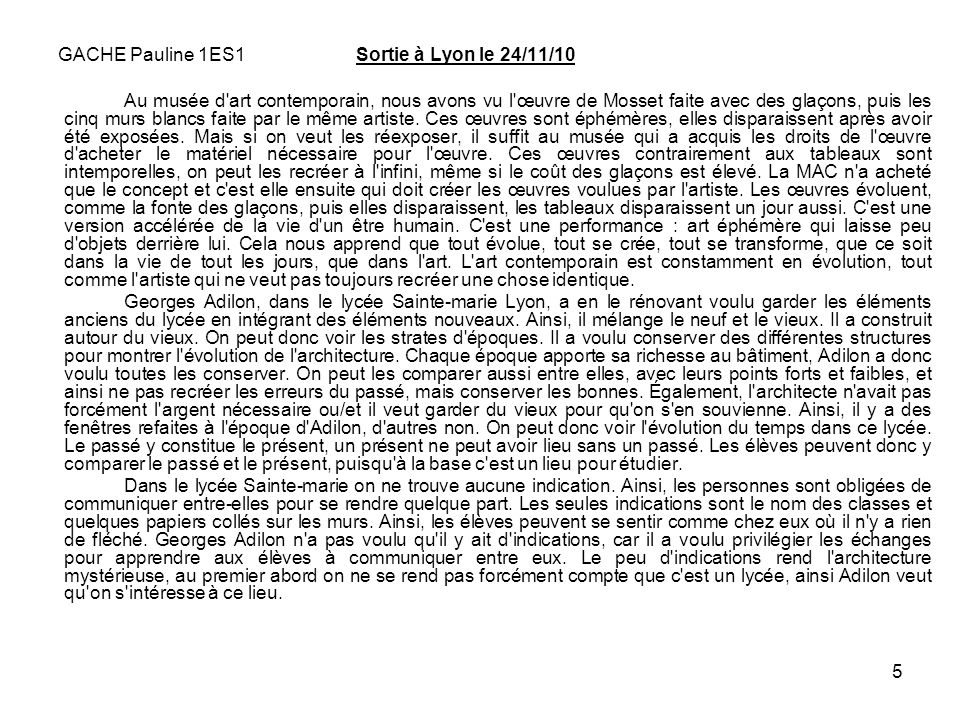 GACHE Pauline 1ES1 Sortie à Lyon le 24/11/10