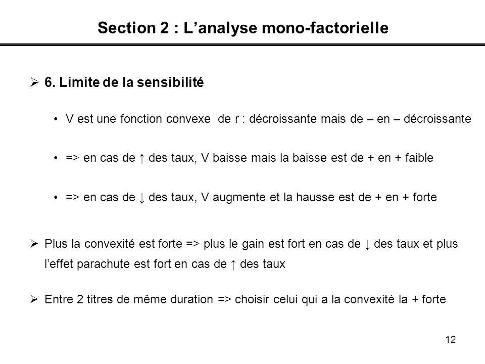 Section 2 : L'analyse mono-factorielle