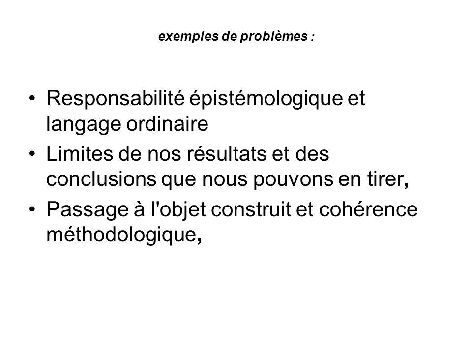 exemples de problèmes :