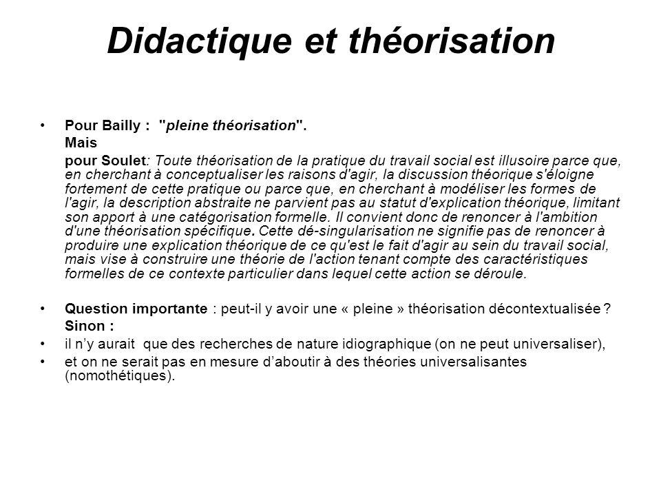 Didactique et théorisation