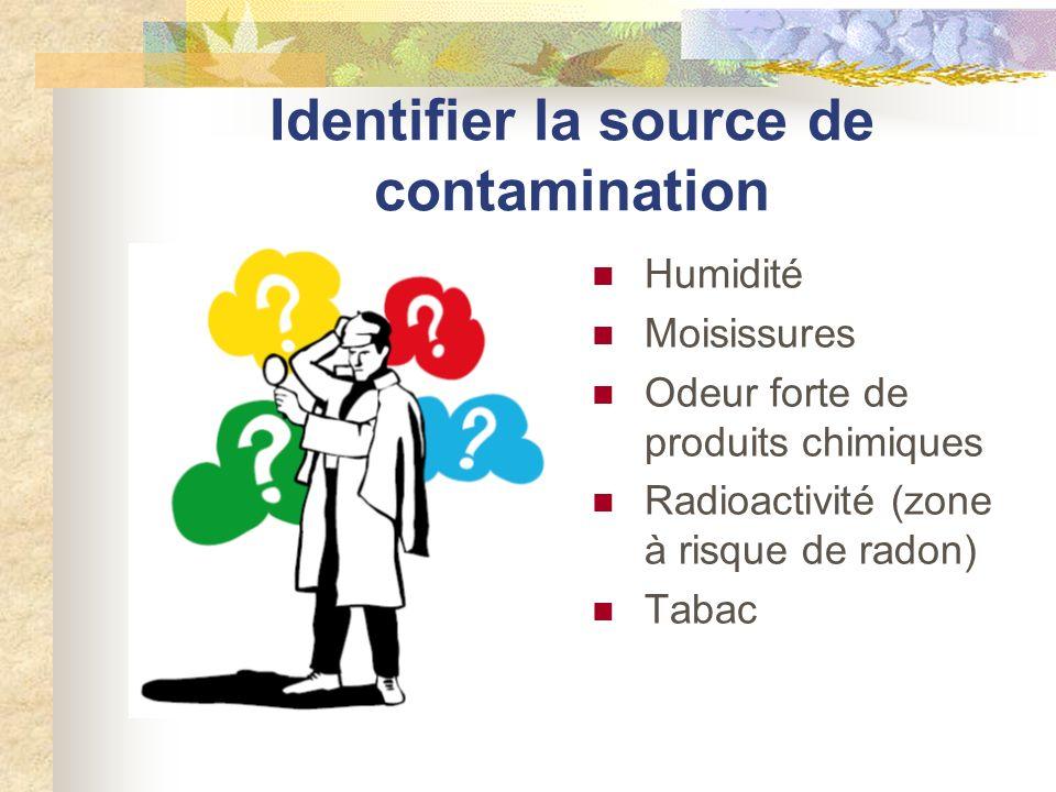 Identifier la source de contamination