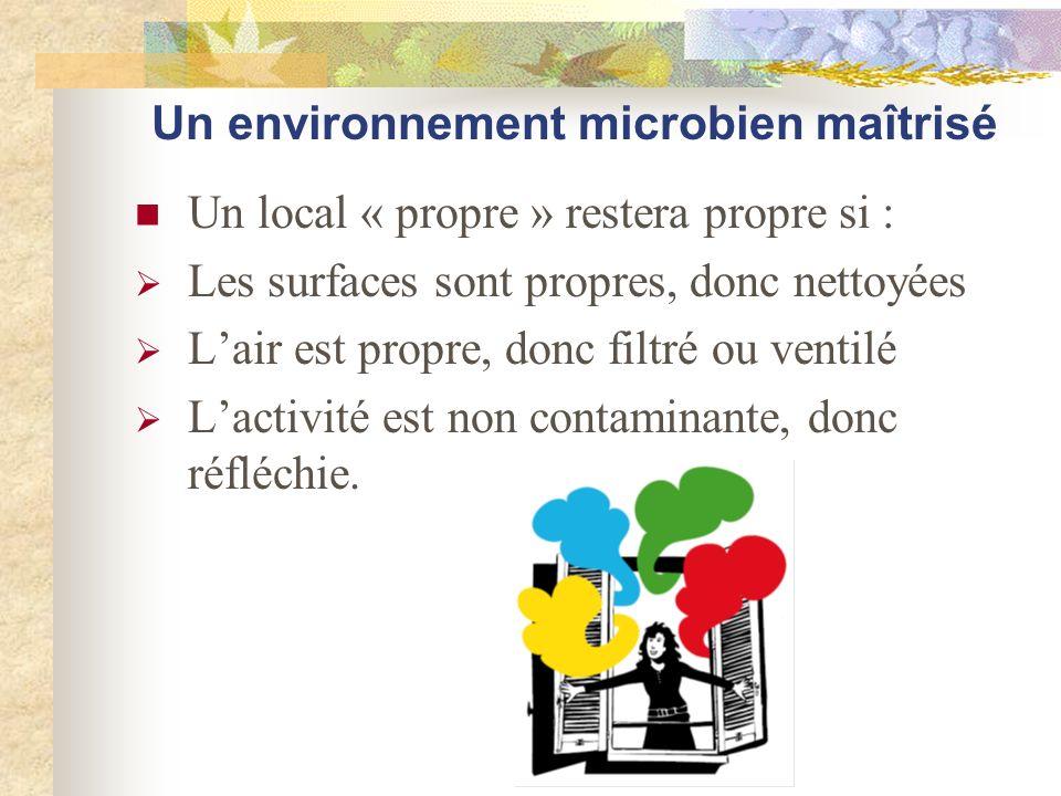 Un environnement microbien maîtrisé