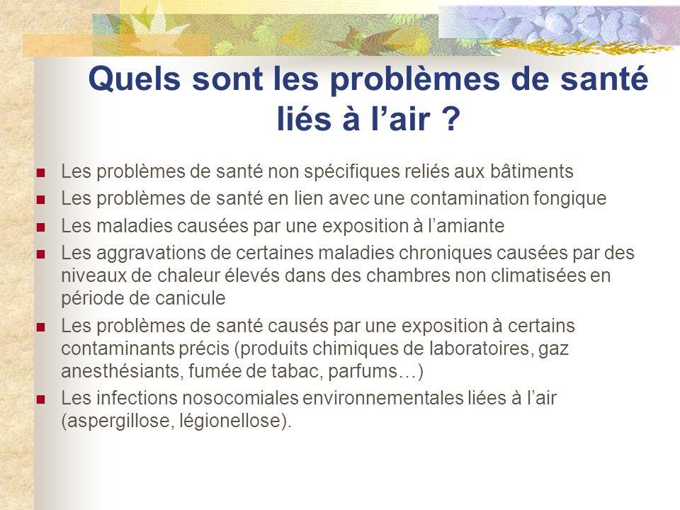 Quels sont les problèmes de santé liés à l'air
