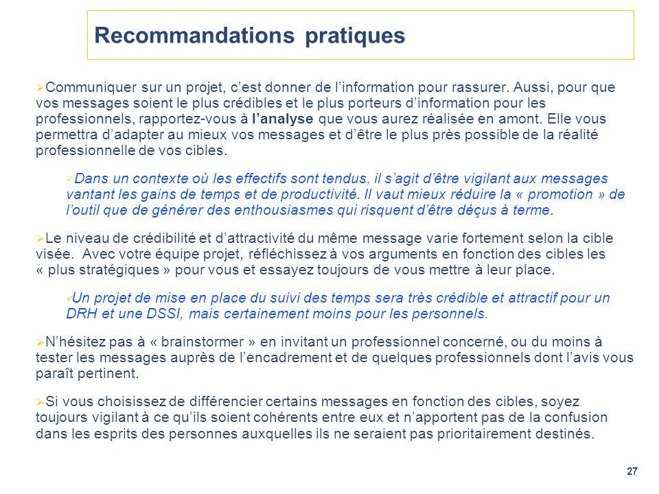 Recommandations pratiques