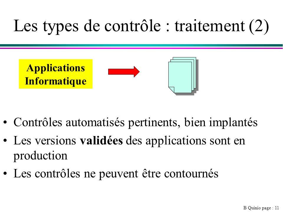 Les types de contrôle : traitement (2)
