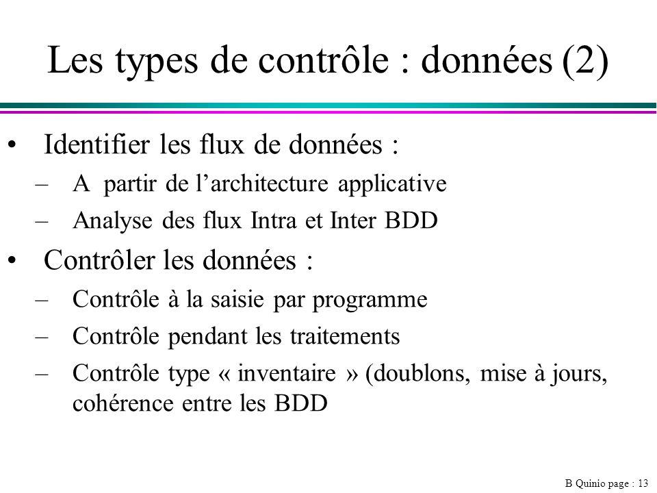 Les types de contrôle : données (2)