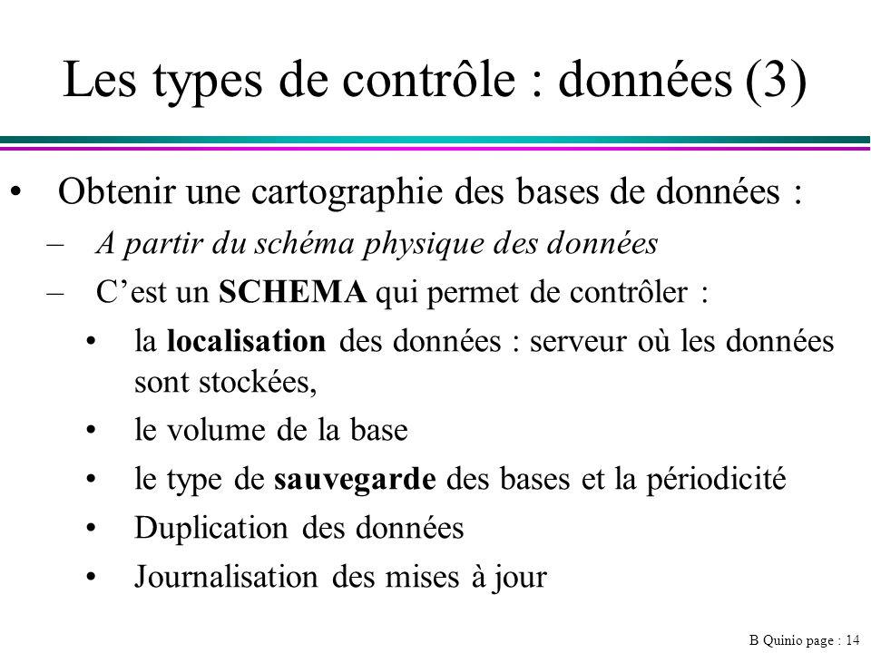 Les types de contrôle : données (3)