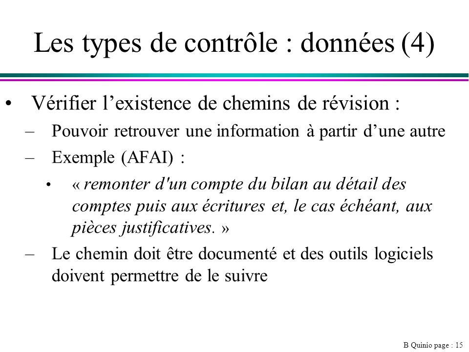 Les types de contrôle : données (4)